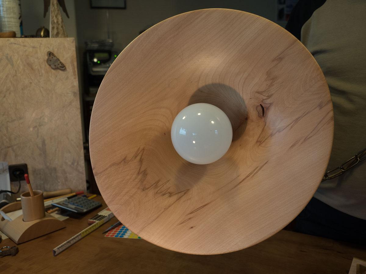 Lampe aus Buchenholz